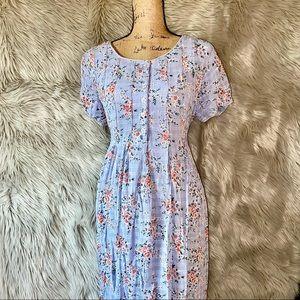 Vintage Light Blue Prairie Dress